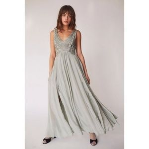 Free People Daphne Maxi Dress in Gray